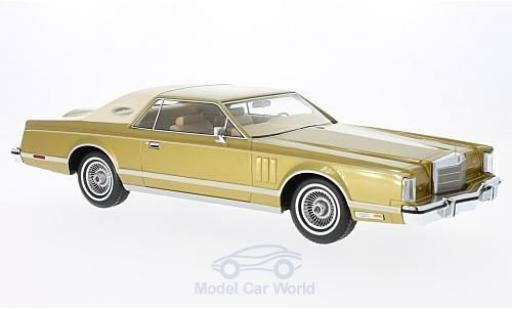 Lincoln Continental 1/18 BoS Models MkV Coupe gold/beige 1978 miniature