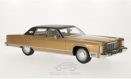 Lincoln Continental 1/18 BoS Models Sedan metallise marron 1975 ohne Vitrine miniature