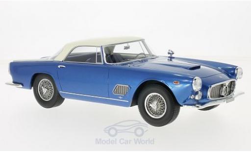 Maserati 3500 GT 1/18 BoS Models Touring métallisé bleue/blanche 1957 miniature
