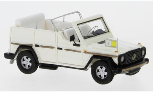 Mercedes 230 1/87 BoS Models G Papamobil metallise white 1980 diecast model cars