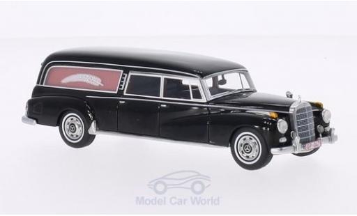 Mercedes 300 S 1/43 BoS Models d (W189) Pollmann noire 1960 Bestattungsfahrzeug miniature