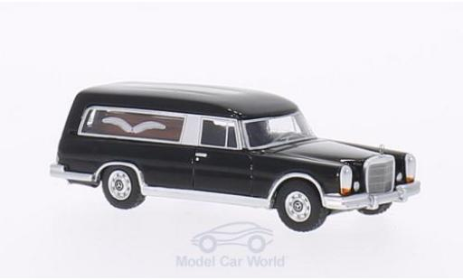 Mercedes 600 1/87 BoS Models (W100) Pollmann noire 1969 Bestattungswagen miniature