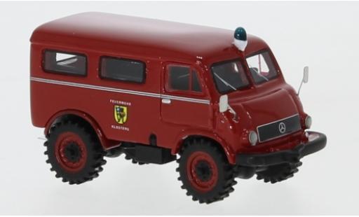 Mercedes Unimog 1/87 BoS Models 402 Feuerwehr 1956 pompiers Klosters diecast model cars