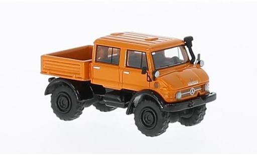 Mercedes Unimog 1/87 BoS Models U416 DoKa orange 1977 diecast model cars