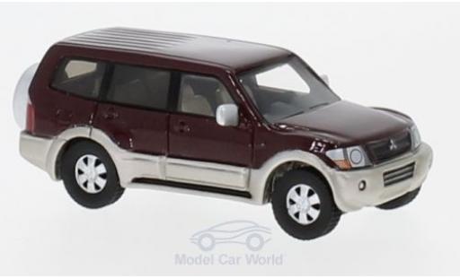 Mitsubishi Pajero 1/87 BoS Models metallise rouge 2003 miniature