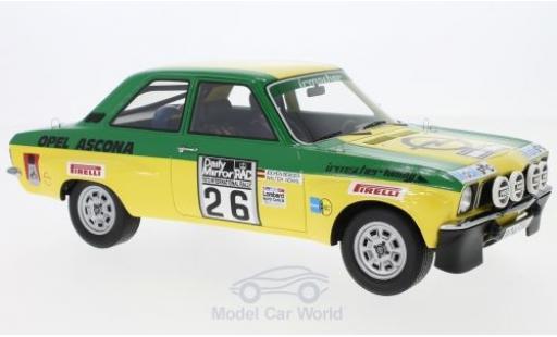 Opel Ascona C 1/18 BoS Models A No.26 Irmscher Tuning Rallye WM RAC Rallye 1973 W.Röhrl/J.Berger miniature