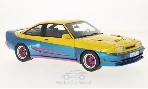 Opel Manta 1/18 BoS Models B Mattig yellow/metallise blue 1991 diecast model cars