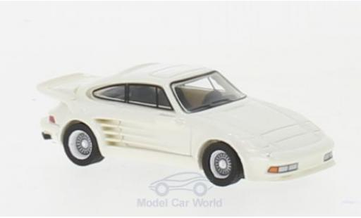 Porsche 930 Turbo 1/87 BoS Models 911 Gemballa Avalanche metallise white 1986 diecast model cars