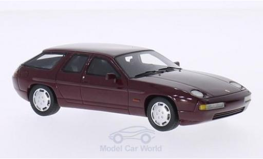 Porsche 928 1/43 BoS Models H50 Concept metallise red 1987 diecast model cars