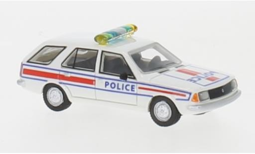 Renault 18 1/87 BoS Models Break white/Dekor Police 1978 diecast model cars