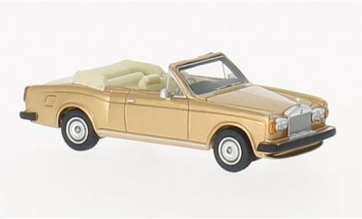 Rolls Royce Corniche 1/87 BoS Models Convertible gold RHD 1974 miniature