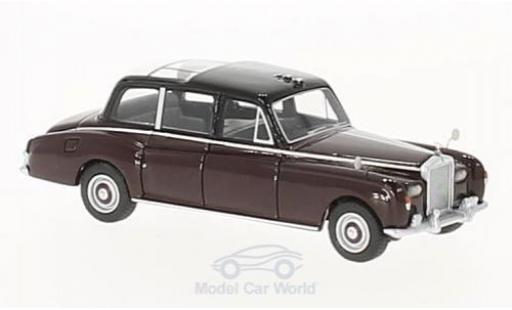 Rolls Royce Phantom 1/87 BoS Models VI rouge/noire Queen Elizabeth 1977 miniature