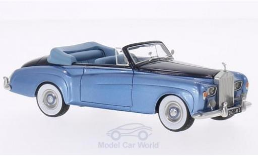 Rolls Royce Silver Cloud 1/43 BoS Models III DHC metallise blue/metallise blue RHD 1964 diecast model cars