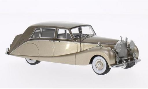 Rolls Royce Silver Wraith 1/43 BoS Models Empress Line by Hooper metallise beige/metallise marron 1956 miniature