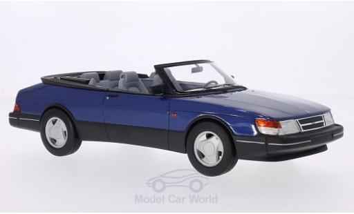 Saab 900 1987 1/18 BoS Models S Cabriolet metallic-bleue 1987 miniature