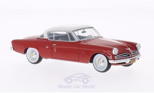 Studebaker Commander 1/43 BoS Models Starliner rouge/blanche 1953 miniature