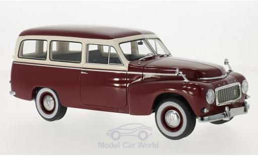 Volvo PV 1/18 BoS Models 445 Duett red/beige 1956 diecast model cars
