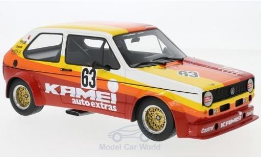 Volkswagen Golf V 1/18 BoS Models I Gr.2 No.63 Kamei 1000 Km Nürburgring 1977 B.Renneisen/W.Wolf modellino in miniatura