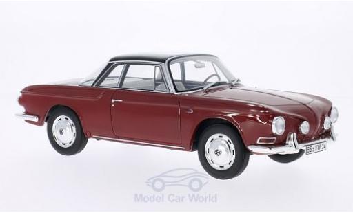 Volkswagen Karmann 1/18 BoS Models Ghia Typ 34 rouge/noire 1961 miniature