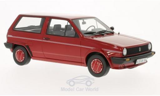 Volkswagen Polo 1/18 BoS Models II (Typ 86c) Steilheck Fox rouge 1986 miniature
