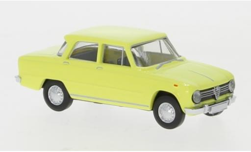 Alfa Romeo Giulia 1/87 Brekina 1300 yellow 1962 diecast model cars