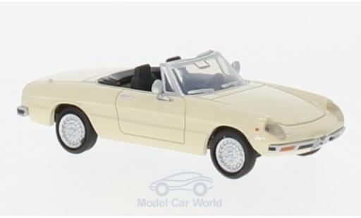 Alfa Romeo Spider 1/87 Brekina 2000 Fastback beige diecast model cars