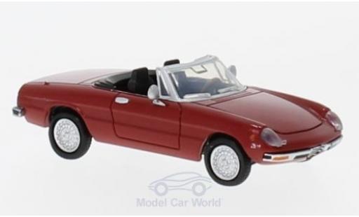Alfa Romeo Spider 1/87 Brekina 2000 Fastback rouge miniature