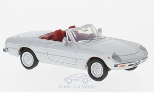 Alfa Romeo Spider 1/87 Brekina 2000 Fastback grey diecast model cars