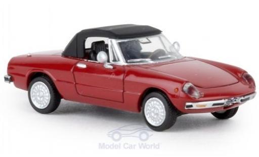 Alfa Romeo Spider 1/87 Brekina rouge 1969 geschlossen TD miniature
