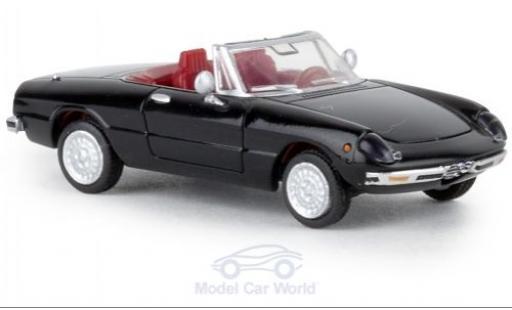 Alfa Romeo Spider 1/87 Brekina schwarz 1969 TD modellautos