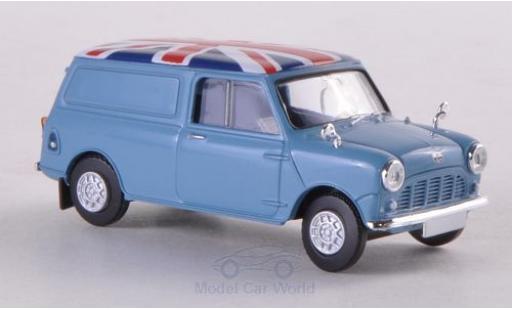 Austin Mini Van 1/87 Brekina bleue/Dekor miniature