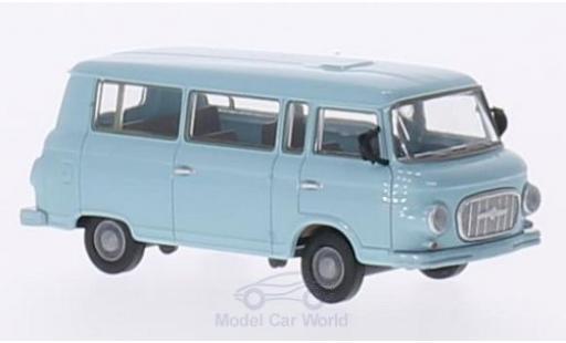 Barkas B 1000 1/87 Brekina Bus bleue miniature