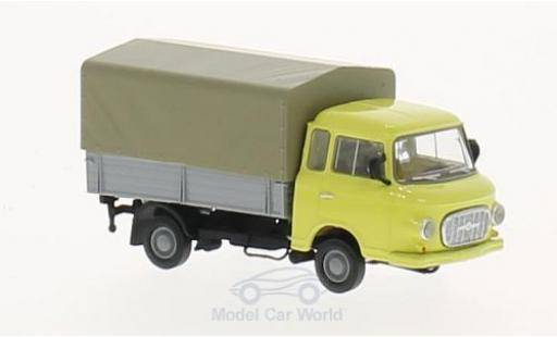Barkas B 1000 1/87 Brekina jaune Pritsche-Plane miniature