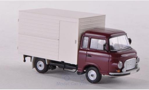 Barkas B 1000 1/87 Brekina Koffer rouge miniature