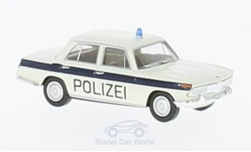 Bmw 2000 A 1/87 Brekina white/blue Polizei Solothurn diecast model cars