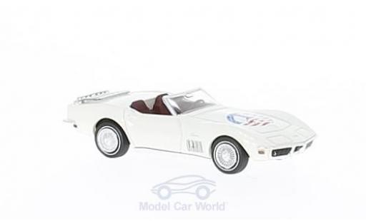 Chevrolet Corvette C3 1/87 Brekina  Cabriolet white/Dekor Peace diecast