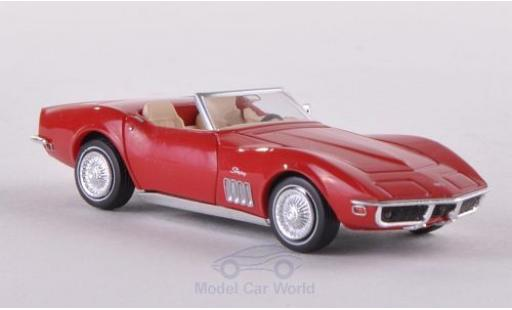 Chevrolet Corvette 1/87 Brekina (C3) Convertible red diecast model cars