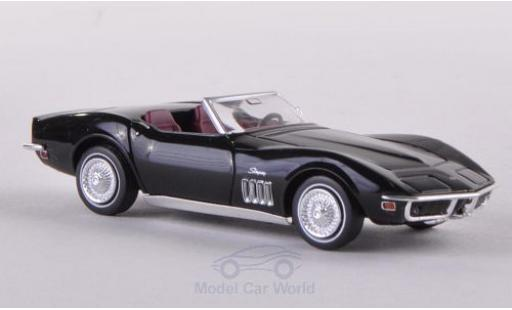 Chevrolet Corvette 1/87 Brekina (C3) Convertible black diecast model cars