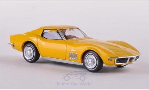 Chevrolet Corvette 1/87 Brekina (C3) yellow diecast model cars