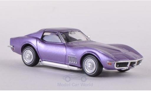 Chevrolet Corvette 1/87 Brekina (C3) metallise lila diecast model cars
