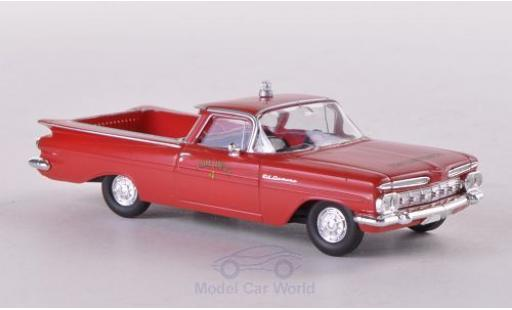 Chevrolet El Camino 1/87 Brekina Fire Department Feuerwehr (USA) diecast model cars