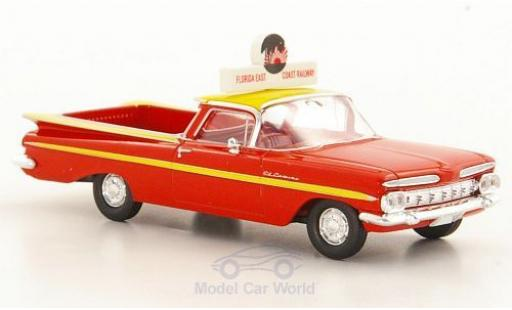 Chevrolet El Camino 1/87 Brekina Florida East Coast Railway diecast model cars