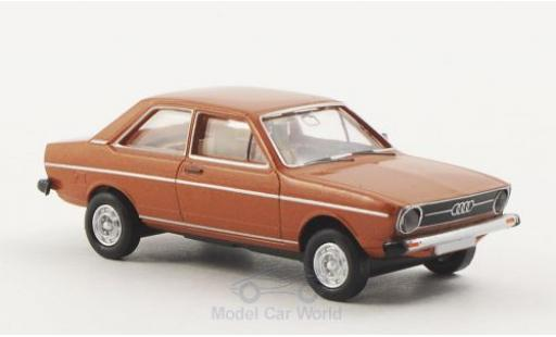 Audi 80 1/87 Brekina LS metallise marron miniature