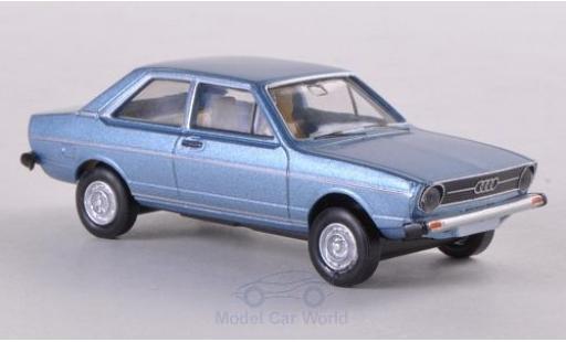 Audi 80 1/87 Brekina metallise bleue miniature
