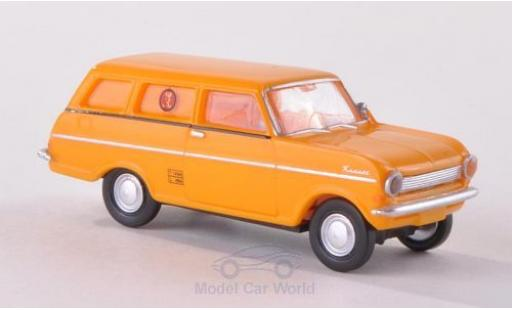 Opel Kadett 1/87 Brekina Drummer A Caravan Dänische Post (DK) miniature