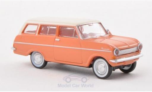 Opel Kadett E 1/87 Brekina Drummer A Caravan hellrouge/blanche miniature