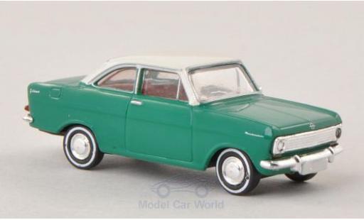 Opel Kadett 1/87 Brekina A Coupe verte/blanche miniature