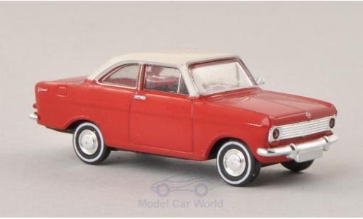 Opel Kadett 1/87 Brekina Drummer A Coupe rouge/blanche miniature
