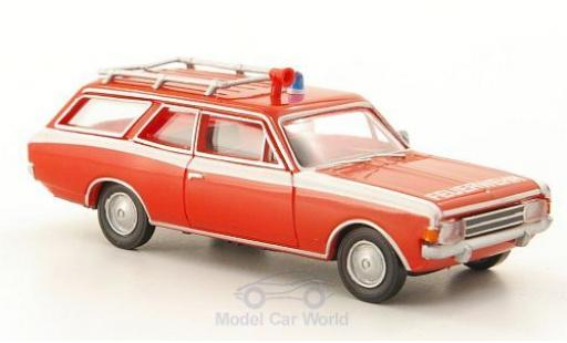 Opel Rekord 1/87 Brekina Drummer C Caravan Feuerwehr miniature