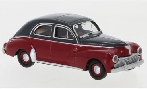 Peugeot 203 1/87 Brekina Drummer grey/red 1948 diecast model cars